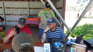 Chris, KG7TLM and Bill, N7QAX working the GOTA Station with Bill, from Florida watching
